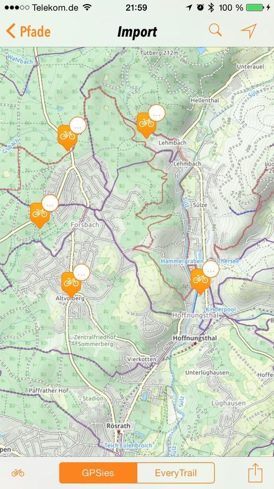 Gpsies Karte.Iphone App Trails Neue Version Software Testberichte